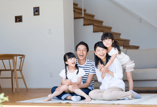 新築・建替えで家族の笑顔